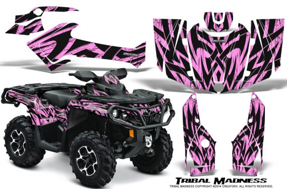 Can-Am-Outlander-2013-2014-XMR-MAX-G2-XT-DPS-Graphics-Kit-Tribal-Madness-PinkLite