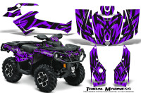 Can-Am-Outlander-2013-2014-XMR-MAX-G2-XT-DPS-Graphics-Kit-Tribal-Madness-Purple