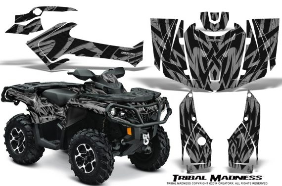 Can-Am-Outlander-2013-2014-XMR-MAX-G2-XT-DPS-Graphics-Kit-Tribal-Madness-Silver