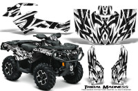 Can-Am-Outlander-2013-2014-XMR-MAX-G2-XT-DPS-Graphics-Kit-Tribal-Madness-White