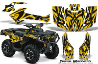 Can-Am-Outlander-2013-2014-XMR-MAX-G2-XT-DPS-Graphics-Kit-Tribal-Madness-Yellow