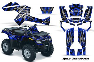 Can Am Outlander 800 CreatorX Graphics Kit Bolt Thrower Blue BB1 320x211 - Can-Am Outlander EFI 500-650-800-1000 2006-2011 Graphics