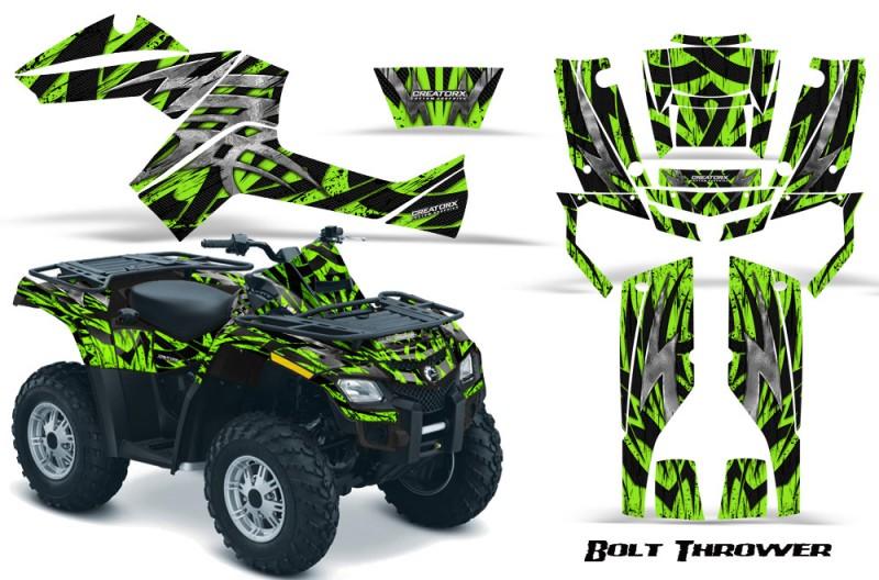 Can-Am-Outlander-800-CreatorX-Graphics-Kit-Bolt-Thrower-Green