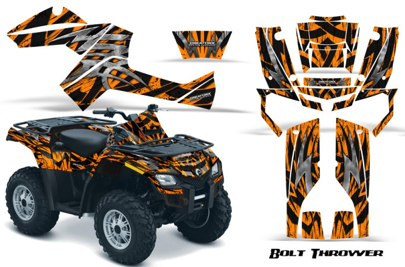 Can-Am-Outlander-800-CreatorX-Graphics-Kit-Bolt-Thrower-Orange