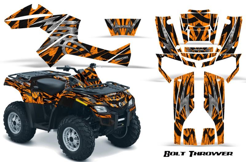 Can-Am-Outlander-800-CreatorX-Graphics-Kit-Bolt-Thrower-Orange