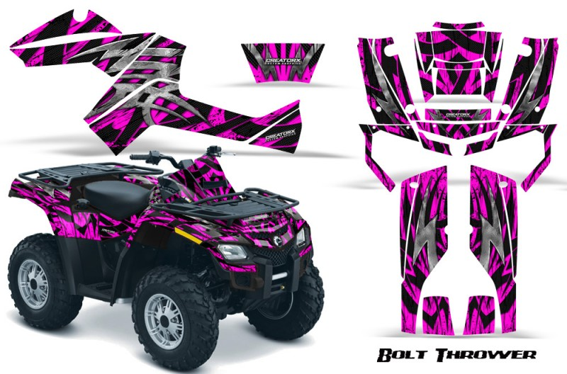 Can-Am-Outlander-800-CreatorX-Graphics-Kit-Bolt-Thrower-Pink