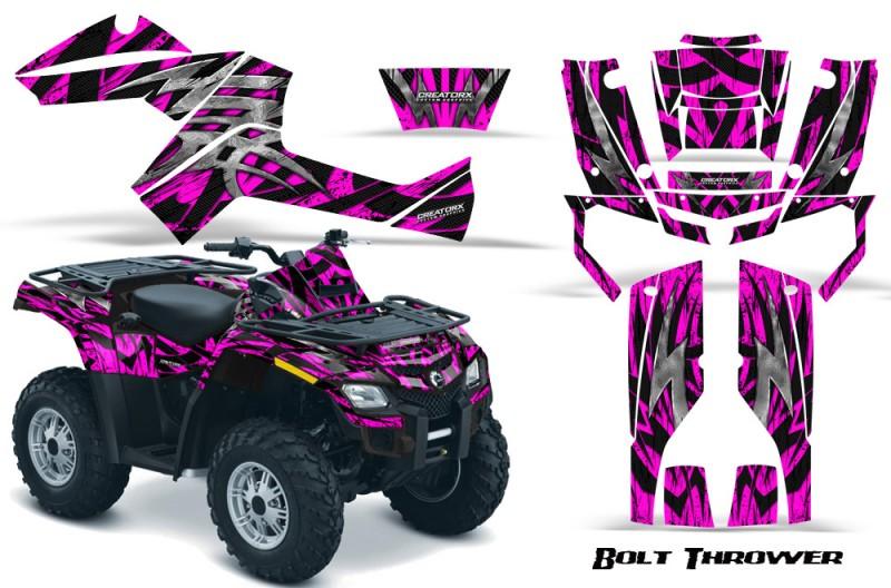 Can-Am-Outlander-800-CreatorX-Graphics-Kit-Bolt-Thrower-Pink