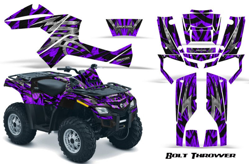 Can-Am-Outlander-800-CreatorX-Graphics-Kit-Bolt-Thrower-Purple