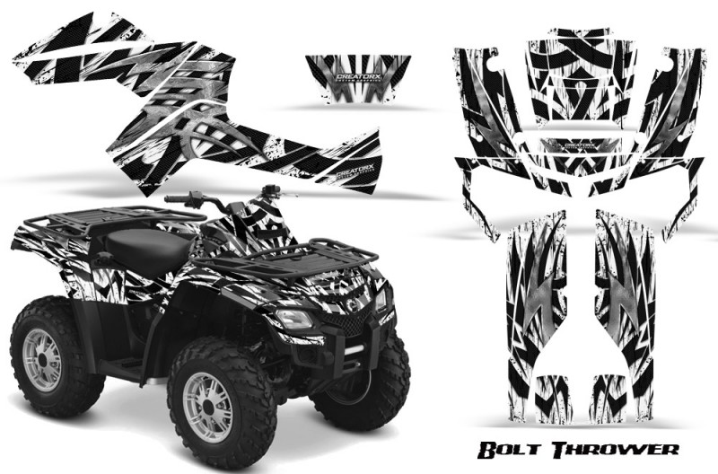 Can-Am-Outlander-800-CreatorX-Graphics-Kit-Bolt-Thrower-White
