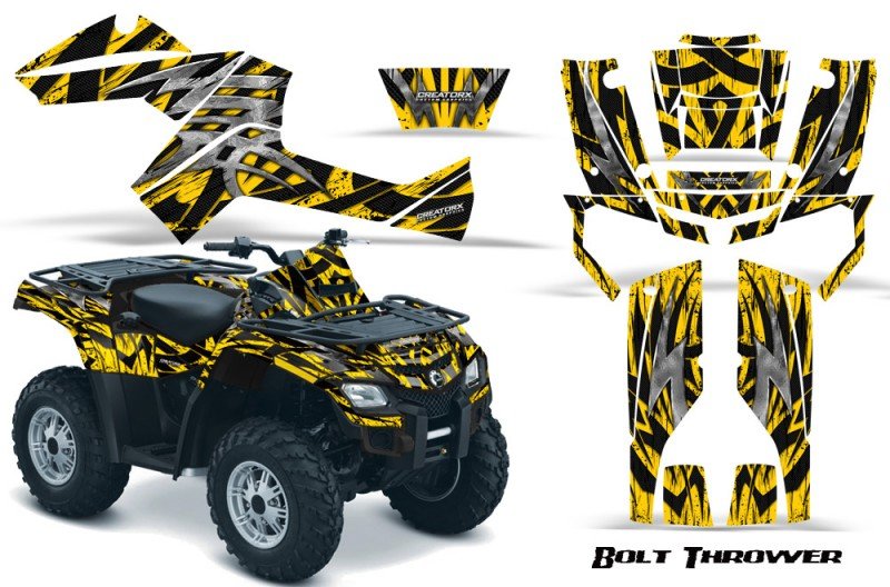 Can-Am-Outlander-800-CreatorX-Graphics-Kit-Bolt-Thrower-Yellow-BB