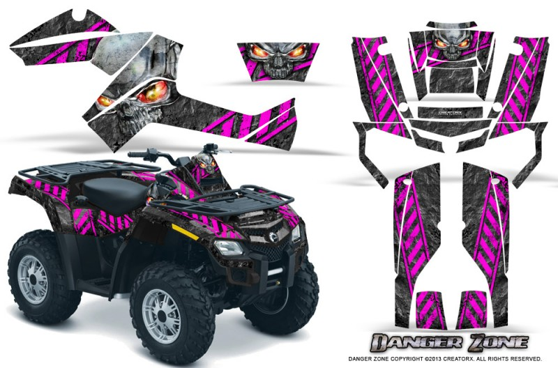 Can-Am-Outlander-800-CreatorX-Graphics-Kit-Danger-Zone-Pink