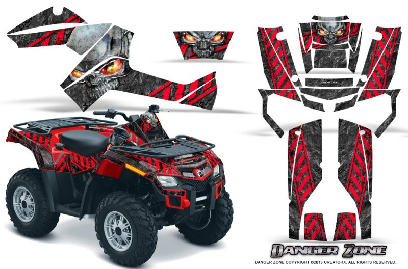 Can-Am-Outlander-800-CreatorX-Graphics-Kit-Danger-Zone-Red
