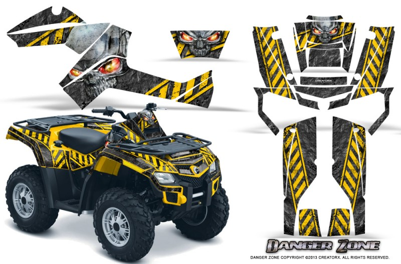 Can-Am-Outlander-800-CreatorX-Graphics-Kit-Danger-Zone-Yellow