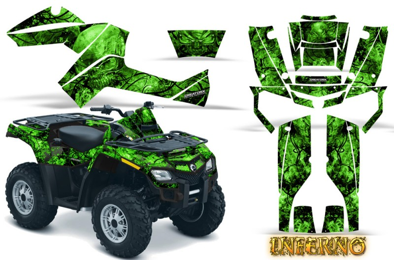 Can-Am-Outlander-800-CreatorX-Graphics-Kit-Inferno-Green
