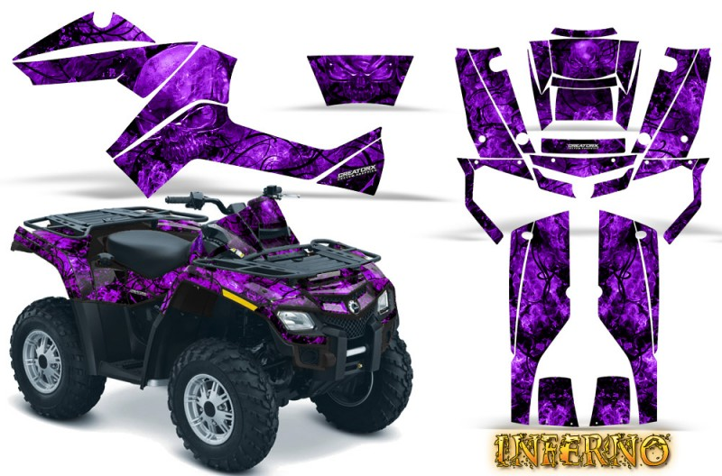 Can-Am-Outlander-800-CreatorX-Graphics-Kit-Inferno-Purple