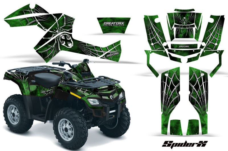 Can-Am-Outlander-800-CreatorX-Graphics-Kit-SpiderX-Green-Dark-BB