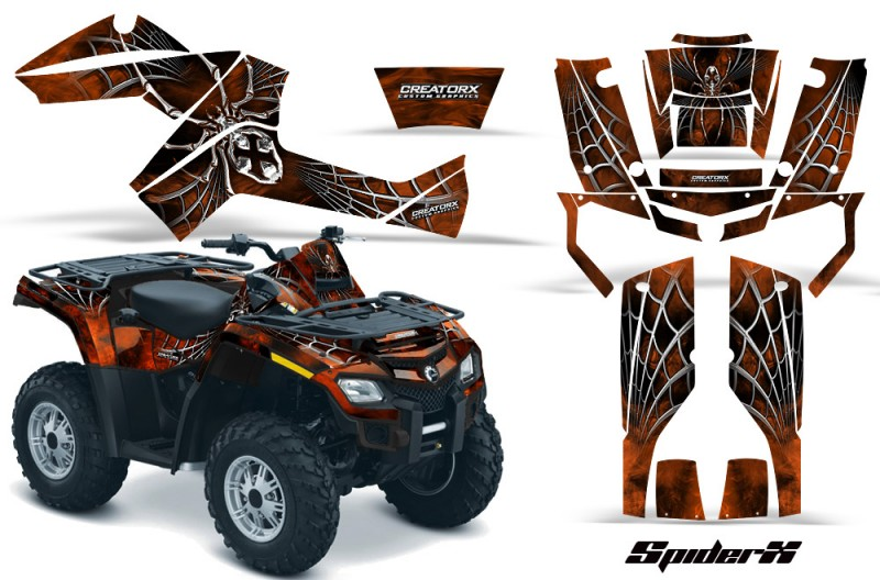 Can-Am-Outlander-800-CreatorX-Graphics-Kit-SpiderX-Orange-Dark-BB