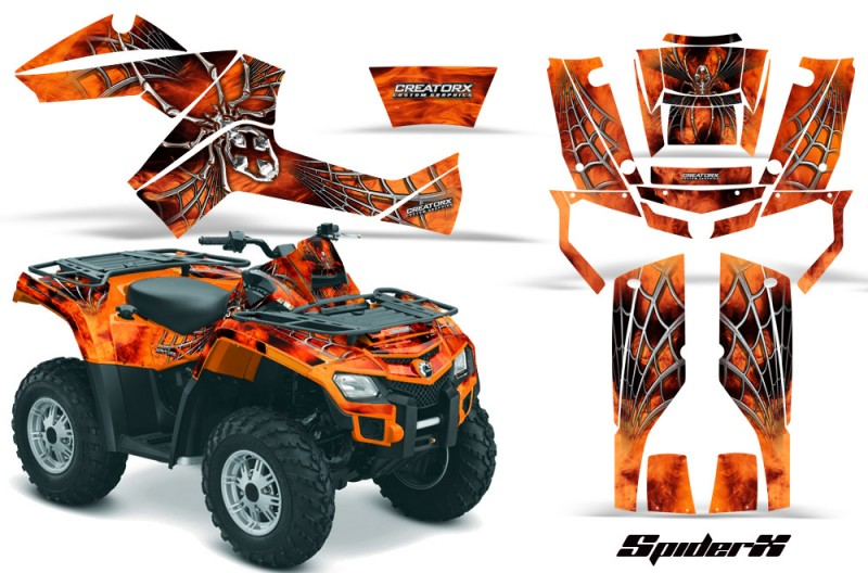 Can-Am-Outlander-800-CreatorX-Graphics-Kit-SpiderX-Orange-OB