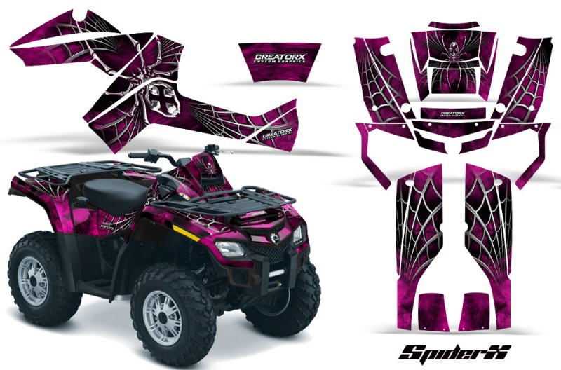 Can-Am-Outlander-800-CreatorX-Graphics-Kit-SpiderX-Pink-BB