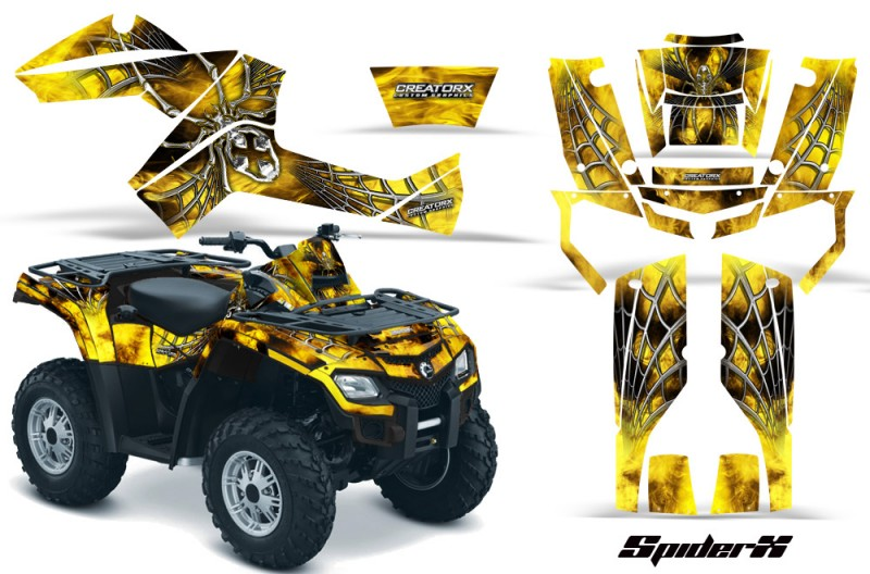 Can-Am-Outlander-800-CreatorX-Graphics-Kit-SpiderX-Yellow-BB