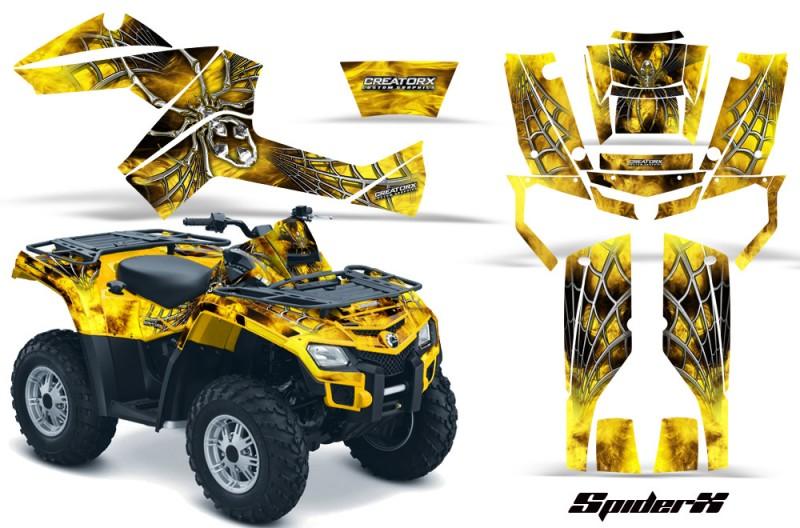 Can-Am-Outlander-800-CreatorX-Graphics-Kit-SpiderX-Yellow-YB