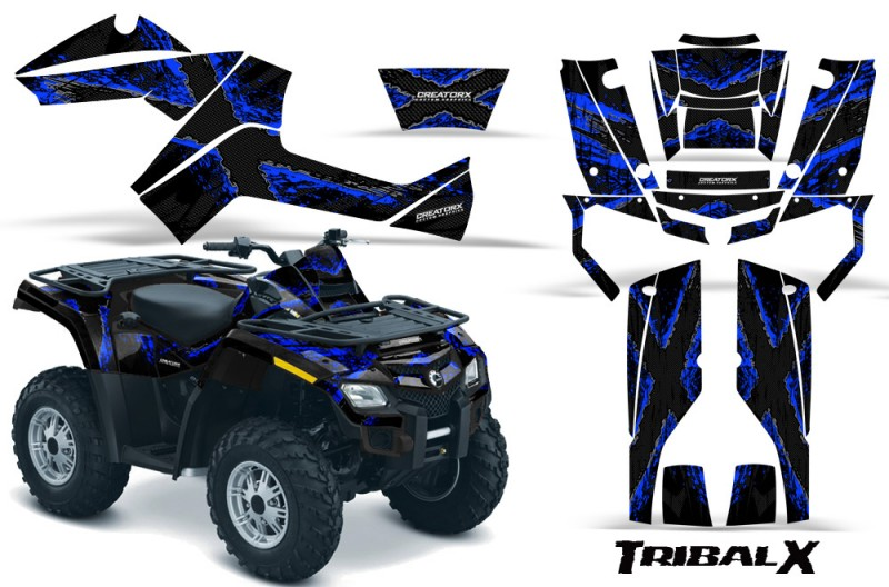 Can-Am-Outlander-800-CreatorX-Graphics-Kit-TribalX-Blue-Black