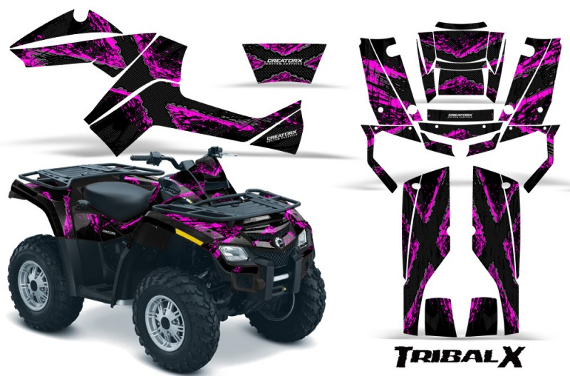Can-Am-Outlander-800-CreatorX-Graphics-Kit-TribalX-Pink-Black