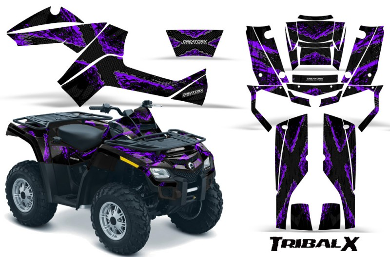 Can-Am-Outlander-800-CreatorX-Graphics-Kit-TribalX-Purple-Black