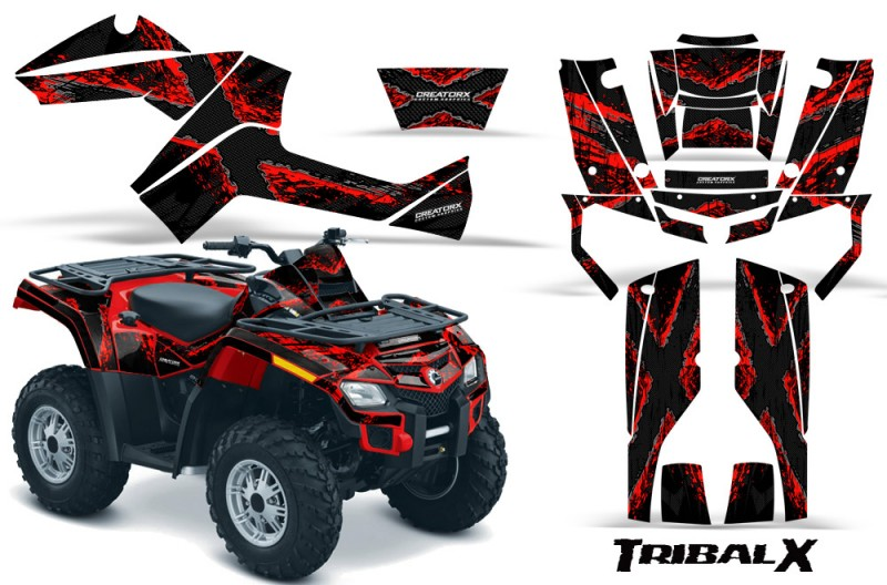 Can-Am-Outlander-800-CreatorX-Graphics-Kit-TribalX-Red-Black-RB