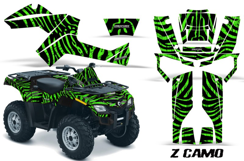 Can-Am-Outlander-800-CreatorX-Graphics-Kit-ZCamo-Green