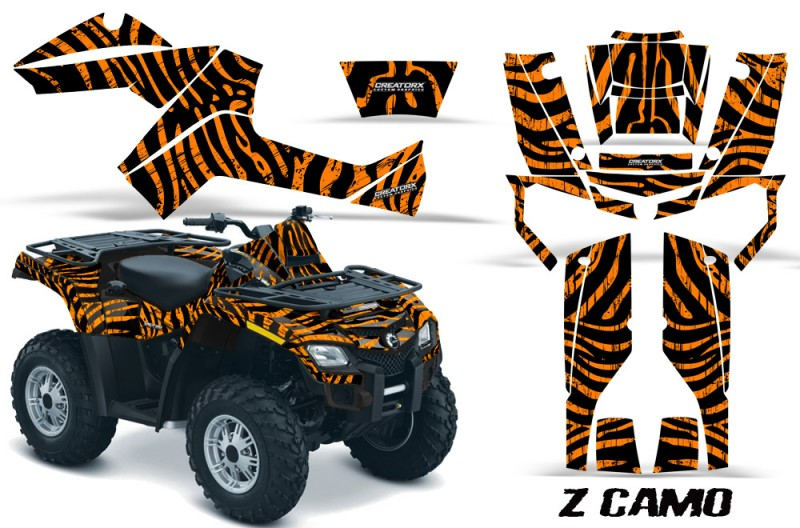 Can-Am-Outlander-800-CreatorX-Graphics-Kit-ZCamo-Orange