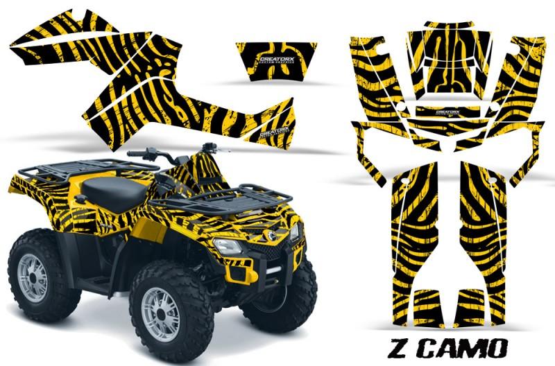 Can-Am-Outlander-800-CreatorX-Graphics-Kit-ZCamo-Yellow