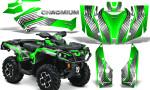 Can Am Outlander G2 1000 2015 Graphics Kit Chromium Green 150x90 - Can-Am Outlander 500-650-800-1000 XMR-MAX XT XT-P DPS SST G2 2013-2021 Graphics