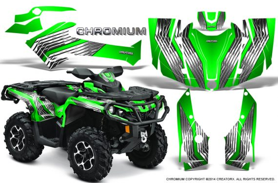 Can-Am-Outlander-G2-1000-2015-Graphics-Kit-Chromium-Green