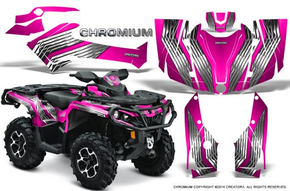 Can-Am-Outlander-G2-1000-2015-Graphics-Kit-Chromium-Pink