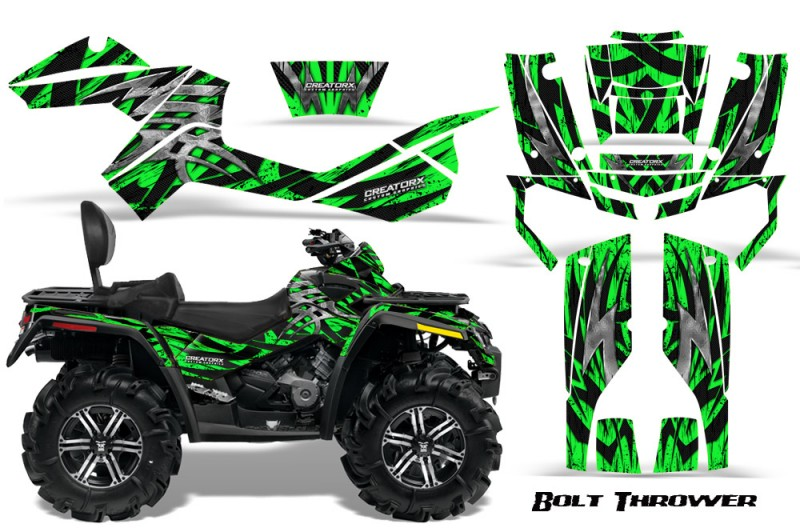 Can-Am-Outlander-MAX-CreatorX-Graphics-Kit-Bolt-Thrower-Green