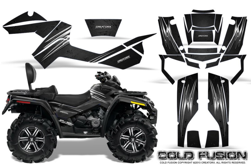 Can-Am-Outlander-MAX-CreatorX-Graphics-Kit-Cold-Fusion-Black