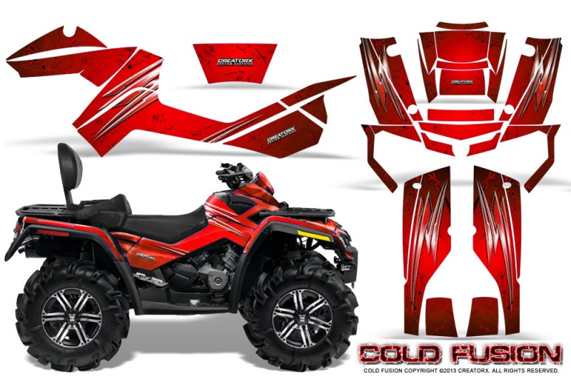 Can-Am-Outlander-MAX-CreatorX-Graphics-Kit-Cold-Fusion-Red