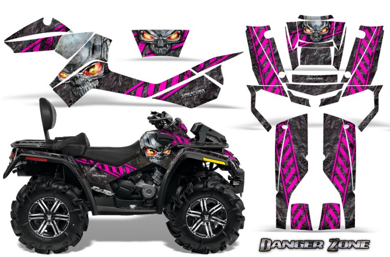 Can-Am-Outlander-MAX-CreatorX-Graphics-Kit-Danger-Zone-Pink-Black