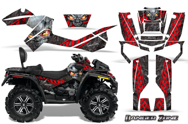 Can-Am-Outlander-MAX-CreatorX-Graphics-Kit-Danger-Zone-Red-Black