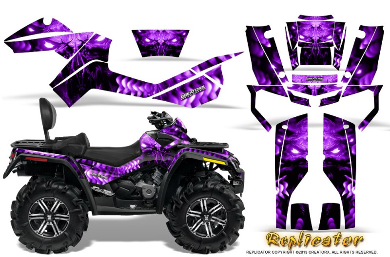 Can-Am-Outlander-MAX-CreatorX-Graphics-Kit-Replicator-Purple