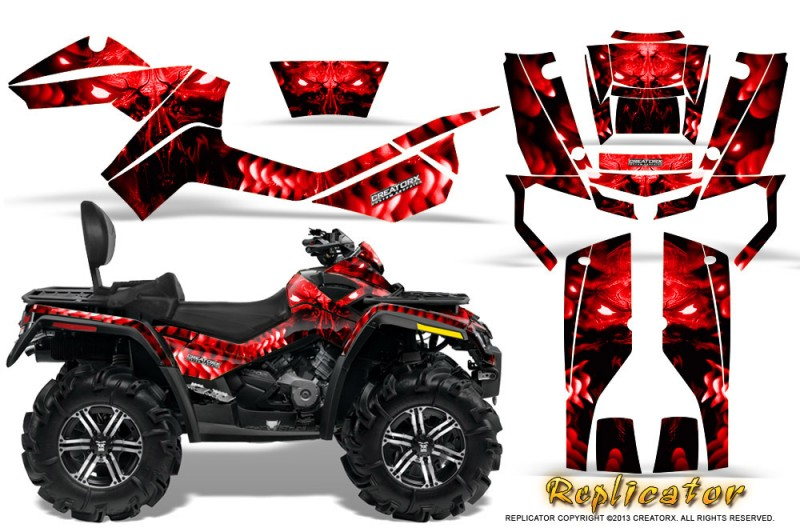 Can-Am-Outlander-MAX-CreatorX-Graphics-Kit-Replicator-Red