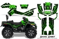 Can-Am-Outlander-MAX-CreatorX-Graphics-Kit-Skull-Chief-Green