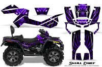 Can-Am-Outlander-MAX-CreatorX-Graphics-Kit-Skull-Chief-Purple