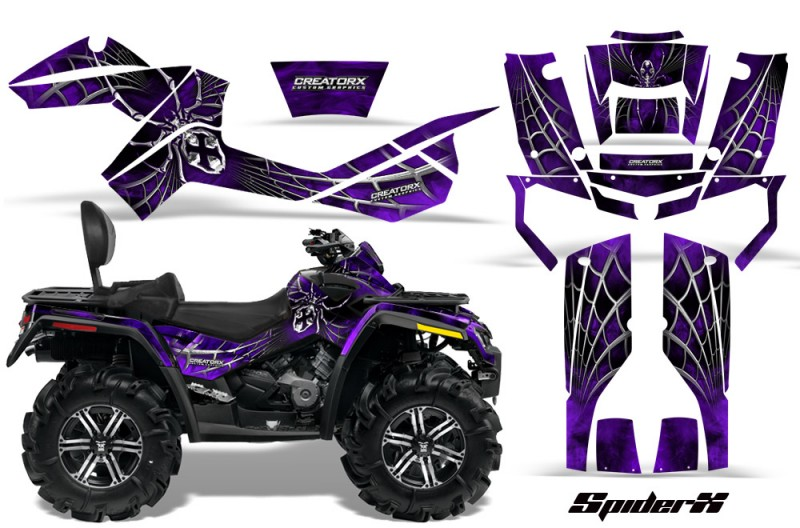 Can-Am-Outlander-MAX-CreatorX-Graphics-Kit-SpiderX-Purple