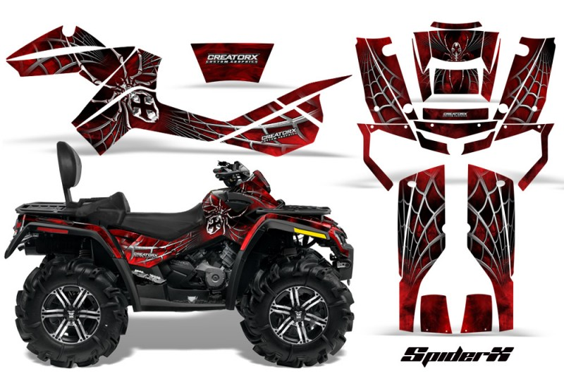 Can-Am-Outlander-MAX-CreatorX-Graphics-Kit-SpiderX-Red-BB