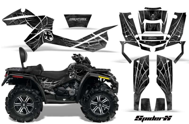 Can-Am-Outlander-MAX-CreatorX-Graphics-Kit-SpiderX-Silver