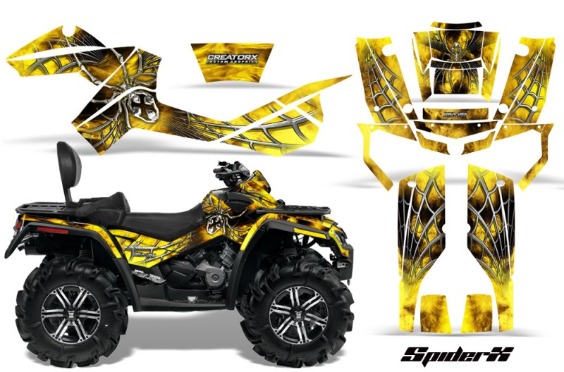 Can-Am-Outlander-MAX-CreatorX-Graphics-Kit-SpiderX-Yellow-BB
