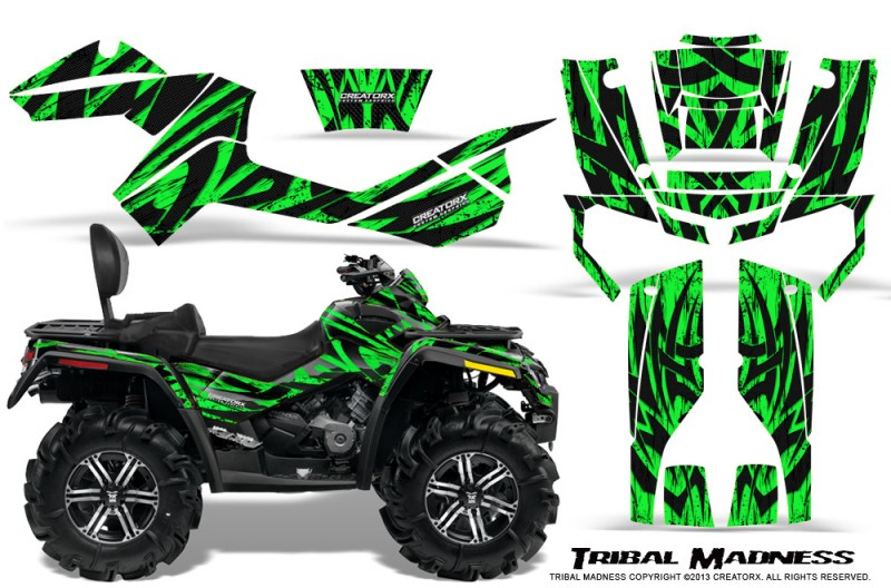 Can-Am-Outlander-MAX-CreatorX-Graphics-Kit-Tribal-Madness-Green