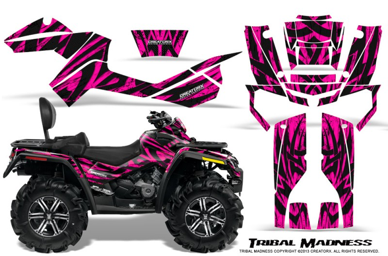 Can-Am-Outlander-MAX-CreatorX-Graphics-Kit-Tribal-Madness-Pink